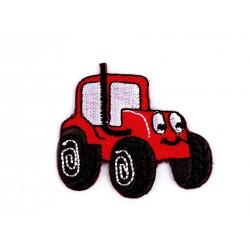Nažehlovačka - červený traktor