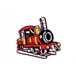 Nažehlovačka - červený vlak