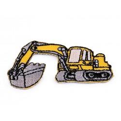 Nažehlovačka - žltý bager