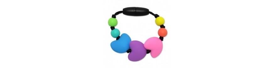 Silikónové krúžky na šatky / náramky pre dievčatká