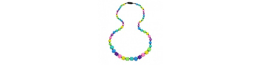Silikónové náhrdelníky na kojenie