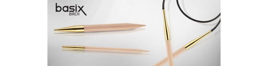KnitPro Basix Birch - kruhové ihlice - 80 cm
