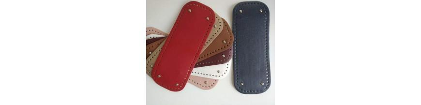 Dno na kabelku z koženky s cuplíkmi (15 x 31 cm)