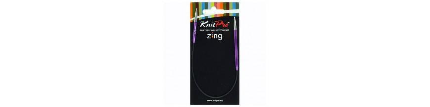 KnitPro Zing - kruhové ihlice - 25 cm